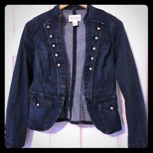 White House black market jean jacket Sz 2